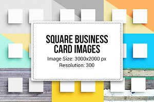 20 Square Business Cards (Images)