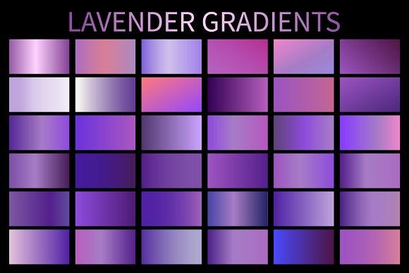Lavender Gradients GRD. AI. Vector