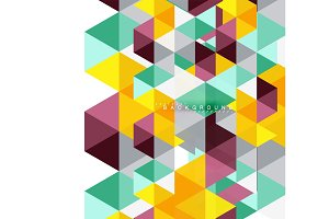 Multicolored triangles abstract