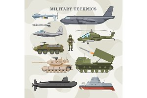 Military technics vector army