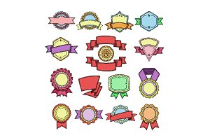 Badge vector quality element for