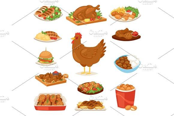 Chicken vector cartoon chick