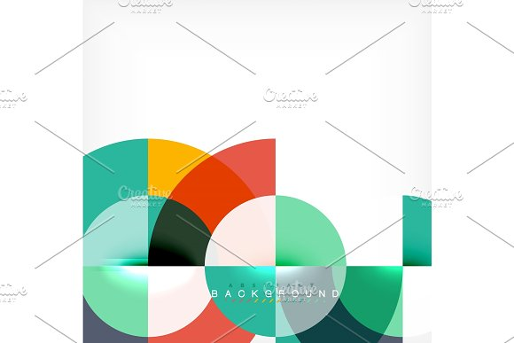 Modern circle abstract background in Illustrations