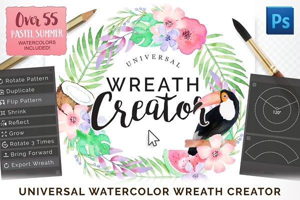 Photoshop Actions - Universal Wreath Creator Pro