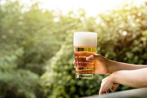 Drinking Beer in Summer