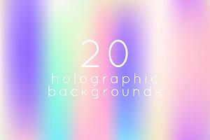 20 horizontal holographic background