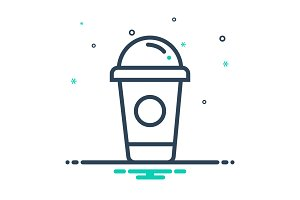Cappuccino container icon