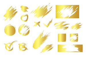 Golden smudges and symbols in vector