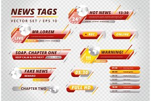 Bright tags for news channels