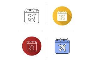 Flight date icon