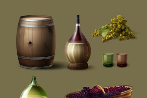 Set of winemaking