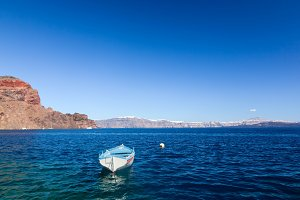Small boat on the Aegean sea