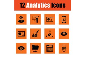 Analytics icon set