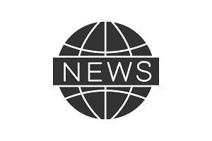 Global news glyph icon