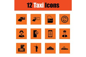 Set of taxy icons