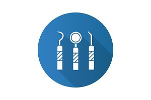Dental instruments icon