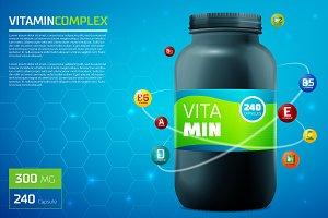 Vitamin complex template