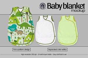 Baby blanket mockup