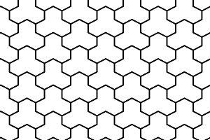 Trihex brick pavers seamless texture