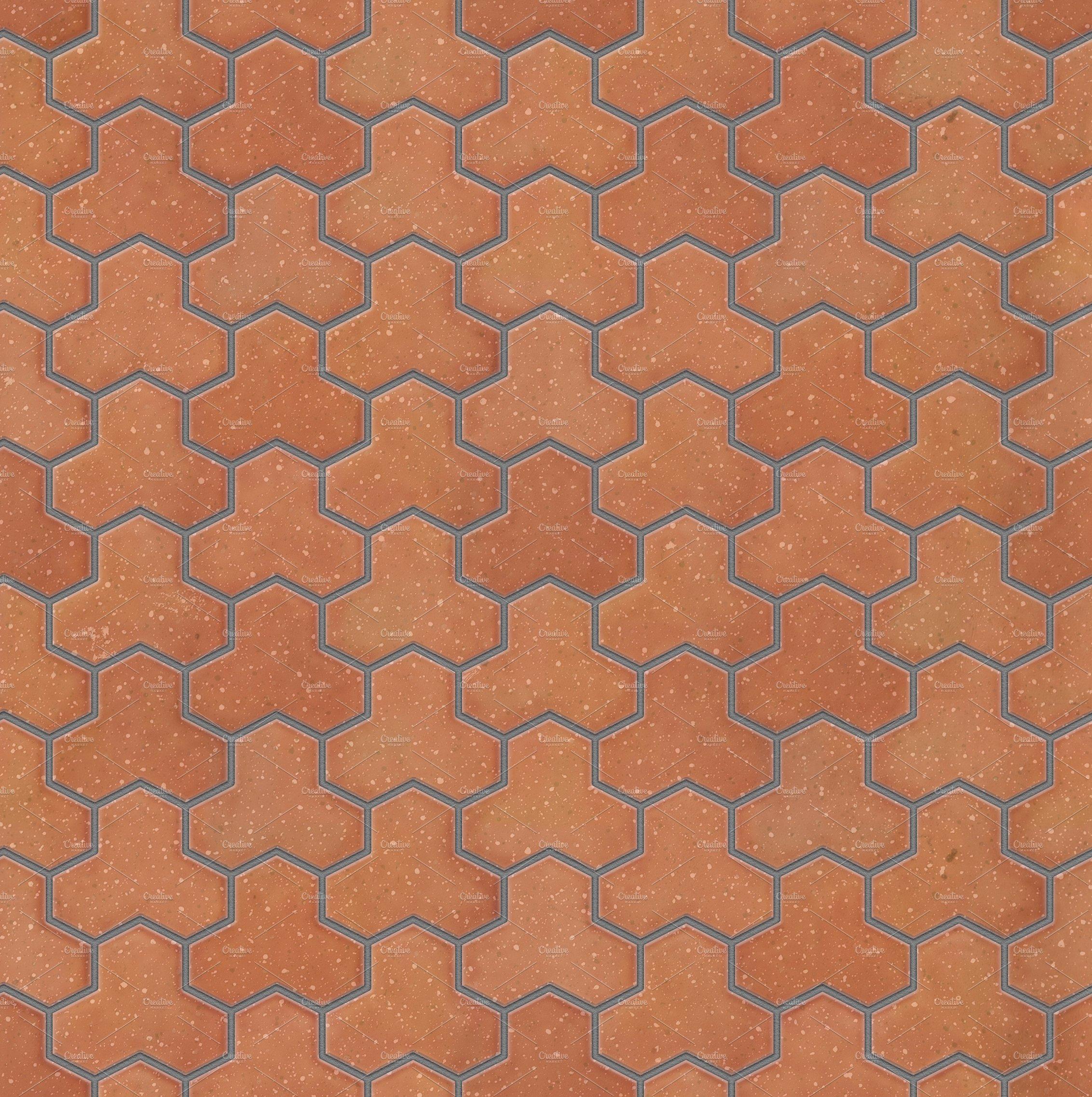 Trihex brick pavers seamless texture | Custom-Designed Textures ~ Creative  Market