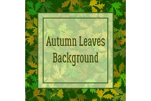 Background, Oak Leaves