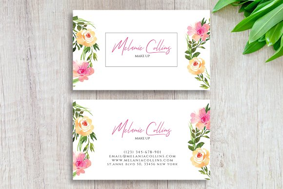 Floral business card template business card templates creative floral business card template business cards friedricerecipe Images