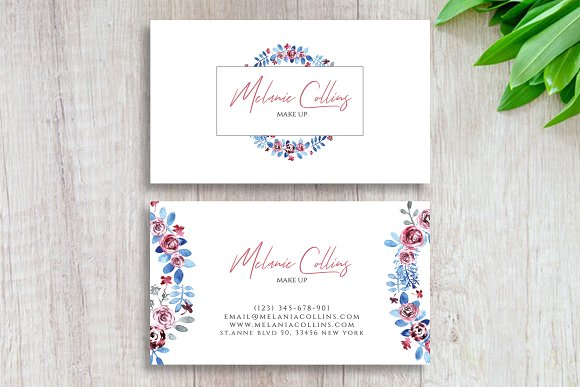 Floral business card template business card templates creative daddy previous next cheaphphosting Gallery