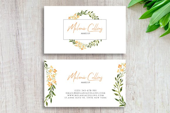 Floral Business Card Template Business Card Templates Creative