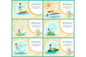 Hot Summer Collection Poster Vector
