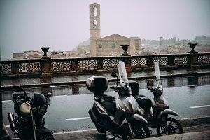 Rain in Perugia, Italy