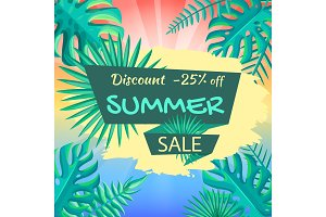 Discount 25% Off Summer Sale Poster