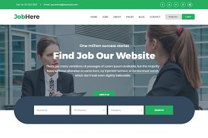 Job Board Responsive HTML Template