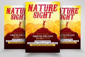 Nature Flyer Psd Template 03
