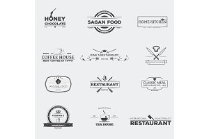 Food and restaurant emblems