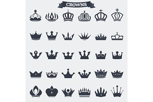 Crown emblems and icons