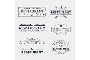 Classic restaurant emblems