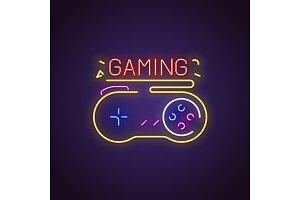Gamepad neon sign