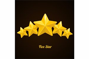 Vector rating hotels stars concept