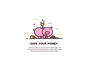 Money saving banner
