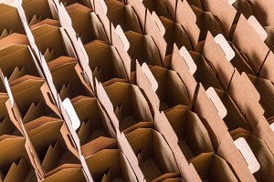 Lot of brown cardboard boxes