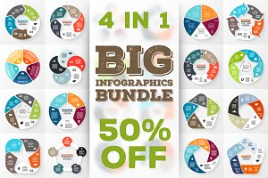 24 infographics for 5 options. Set 2