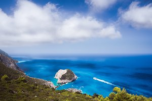 Zante fantastic coastal view with