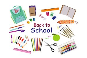 Set of back to School vector
