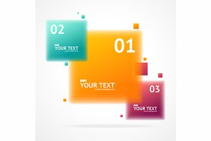 Vector blurred colorful text boxes,