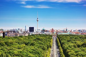 Panorama of Berlin - German capital