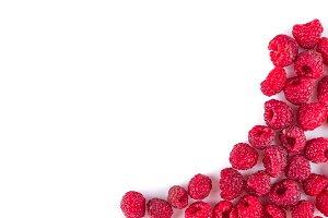 Background of raspberries. Raspberry