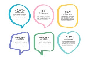 Stickers of speech bubbles vector se