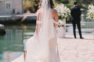 wedding bride on the beach