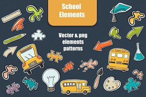 School vector elements