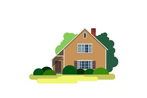 House Sweet home Vector Illustration